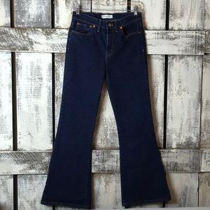 Madewell Flea Market Flare Dark Wash Jeans sz 27